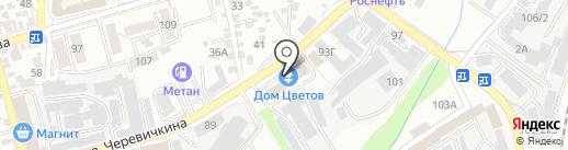 Галинафлора на карте Ростова-на-Дону