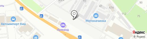 Автошина Рязань на карте Рязани