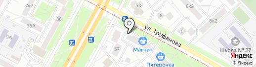 Магнит на карте Ярославля
