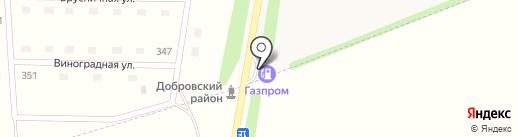 АЗС Газпром на карте Липецка