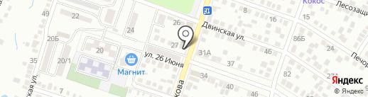 Хамелеон на карте Ростова-на-Дону