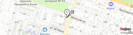 АВЕНЮАВТО на карте Ростова-на-Дону