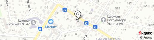 Орджоникидзе на карте Ростова-на-Дону