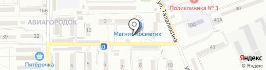 Банкомат, Московский Индустриальный банк на карте Батайска