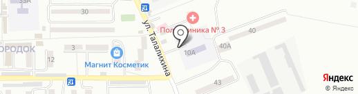 Поликлиника №3 г. Батайска на карте Батайска