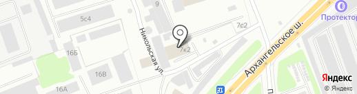 AVTOVO motors на карте Северодвинска