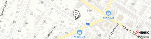 Спартак на карте Ростова-на-Дону