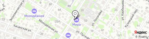 Hotel Mira на карте Ростова-на-Дону