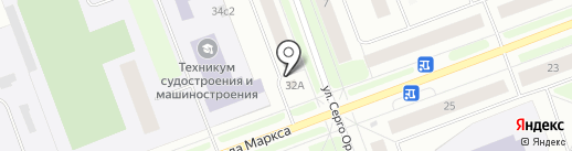 Участковый пункт полиции №6 на карте Северодвинска