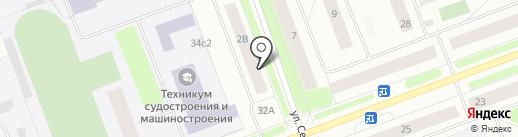Почтовое отделение связи №12 на карте Северодвинска
