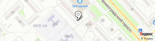 Vosk на карте Ярославля