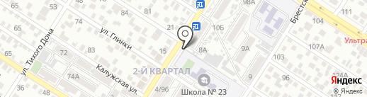 Киоск по продаже мясной продукции на карте Ростова-на-Дону