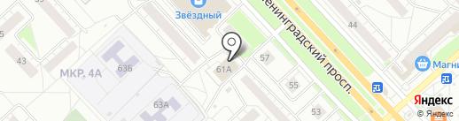1Xbet на карте Ярославля