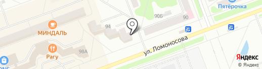 Магазин-киоск по продаже шаурмы на карте Северодвинска