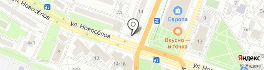 Радуга на карте Рязани