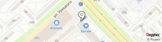 Ярославский кредит на карте Ярославля