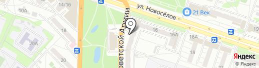 Ивановская мануфактура на карте Рязани