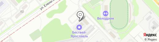 Бествей на карте Ярославля