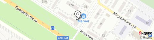 Дачный-5 на карте Липецка