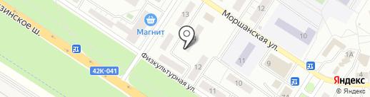 Компас на карте Липецка