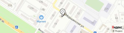 На Моршанской на карте Липецка