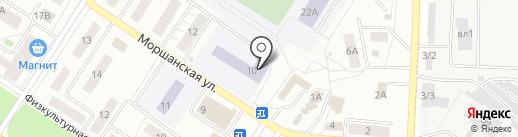 Средняя общеобразовательная школа №54 на карте Липецка