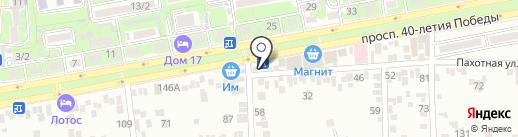 Магазин продуктов на карте Ростова-на-Дону