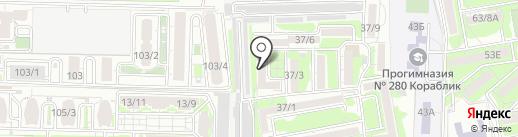 Молодежно-жилищный комплекс порта, ТСЖ на карте Ростова-на-Дону