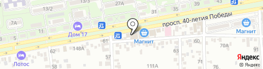 Табакерка на карте Ростова-на-Дону