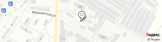 Гараж на карте Липецка