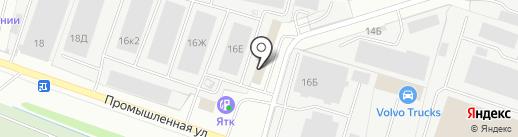 Лагуна-Яр на карте Ярославля
