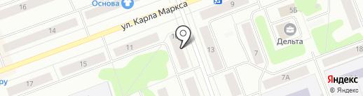 Почтовое отделение №10 на карте Северодвинска