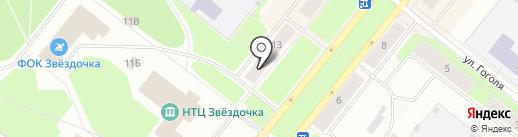 Почтовое отделение №9 на карте Северодвинска