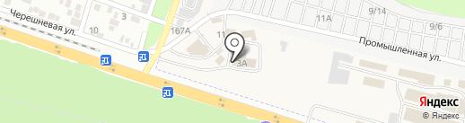 Кирпичный город на карте Янтарного