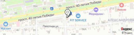 Арт-V на карте Ростова-на-Дону