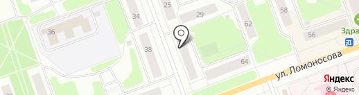 Почтовое отделение №4 на карте Северодвинска
