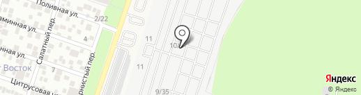 Мосанка на карте Янтарного
