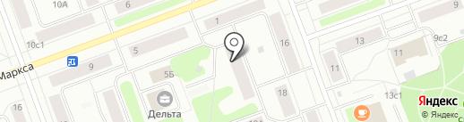 Сеть продуктовых магазинов на карте Северодвинска