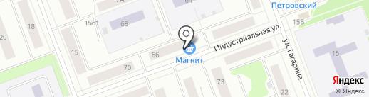 Магазин домашнего текстиля на карте Северодвинска