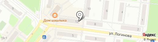 Счастливый дачник на карте Северодвинска