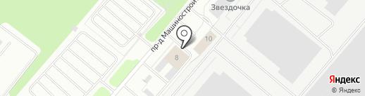 Столовая №24 на карте Северодвинска
