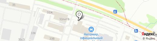Автомир Датсун на карте Ярославля