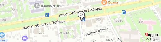 Раковый дворик на карте Ростова-на-Дону