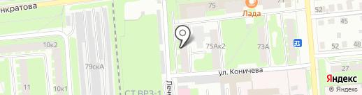 Панкратова 75А 1, ТСЖ на карте Вологды
