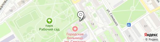 Клиническая больница им. Н.А. Семашко на карте Ярославля