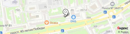 Медтехника-юг на карте Ростова-на-Дону