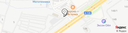 Автолюбитель на карте Аксая