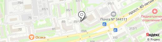 Апрель-Интер на карте Ростова-на-Дону