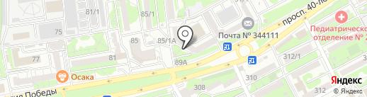Банкомат, Фондсервисбанк на карте Ростова-на-Дону