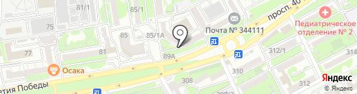 Эффект Энерго на карте Ростова-на-Дону